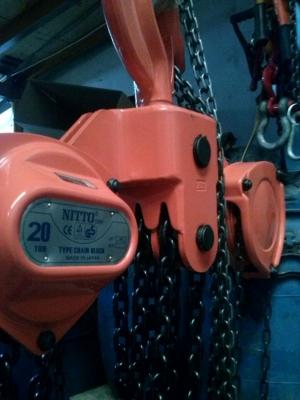 Pa lăng xích kéo tay Nitto 180VP5 (20 tấn 3m)